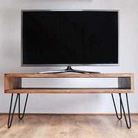 TV Stand media center console mid century modern Offered in several colors - Online Wood Worker