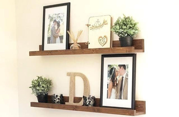 floating Picture ledge shelf photo ledge shelf decor ledge shelf Offered in several colors (reg) - Online Wood Worker