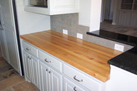 "Maple Countertop 1"" thick Kitchen Island Top - Solid Wood Butcher Block - Offered in Several Colors - Online Wood Worker"