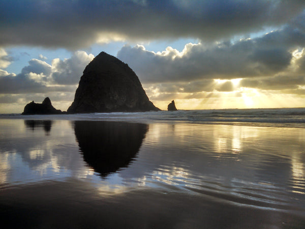 Sunset at Cannon Beach on the Oregon coast