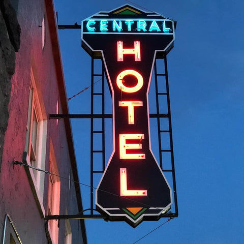 Historic Central Hotel in downtown Burns Oregon