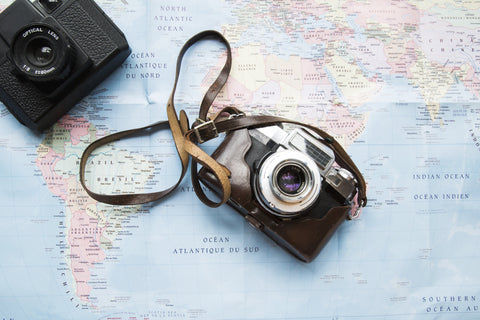 Camera and travel map