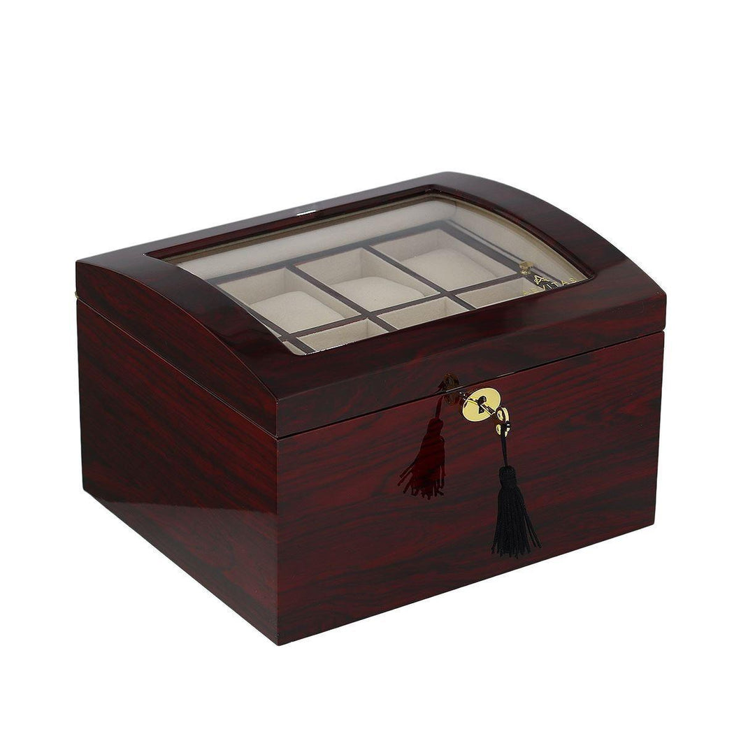 Superior Quality Rosewood Watch Collector Box for 16 watches by Aevitas - Winder World
