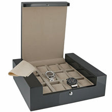 Load image into Gallery viewer, Quality 12 Watch Box Carbon Fibre Veneer Fortis Collection by Aevitas - Winder World