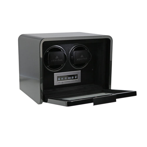 2 Watch Winder for Automatic Watches Carbon Fibre Finish the Premier Collection V2 by Aevitas - Winder World