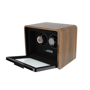 2 Watch Winder for Automatic Watches Light Walnut Finish the Premier Collection V2 by Aevitas - Winder World