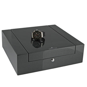Quality 12 Watch Box Carbon Fibre Veneer Fortis Collection by Aevitas - Winder World