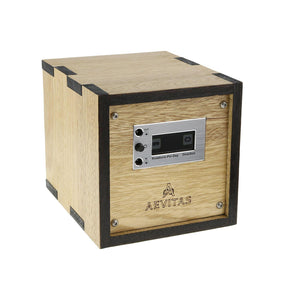 Solid Idigbo Hard Wood Watch Winder for 1 Watch 2 Tone Manufactured in the UK by Aevitas - Winder World