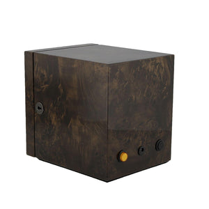 Watch Winder for 1 Automatic Watch Dark Burl Wood finish with LED Light by Aevitas