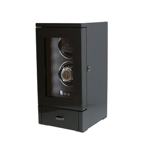 DUAL AUTOMATIC WATCH WINDER CARBON FIBRE FINISH TOWER SERIES BY AEVITAS - Winder World