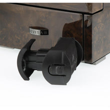 Load image into Gallery viewer, DUAL AUTOMATIC WATCH WINDER DARK BURL WOOD FINISH TOWER SERIES BY AEVITAS
