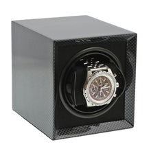 Load image into Gallery viewer, Carbon Fibre Watch Winder for 1 Watch with Rechargeable Battery by Aevitas