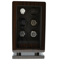 Load image into Gallery viewer, 6 Watch Winder for Automatic Watch Macassar Wood Finish the Classic Collection by Aevitas - Winder World