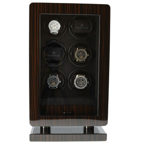 6 Watch Winder for Automatic Watch Macassar Wood Finish the Classic Collection by Aevitas - Winder World