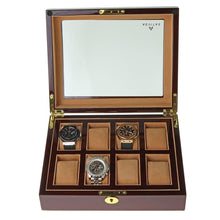 Load image into Gallery viewer, High Quality 8 Watch Box Walnut Veneer by Aevitas - Winder World