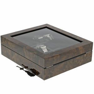 Premium Quality Dark Burl Wood Watch Collectors Box for 12 Watches by Aevitas - Winder World