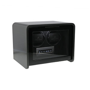 Aevitas Carbon Fibre 2 Watch Winder Closed