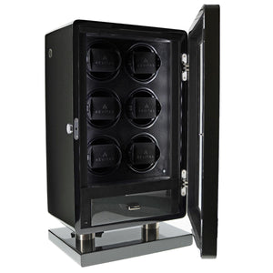 6 Watch Winder for Automatic Watch Carbon Fibre Finish the Classic Collection by Aevitas