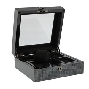 PREMIUM QUALITY CARBON FIBRE WATCH BOX FOR 6 WATCHES BY AEVITAS - Winder World