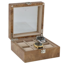 Load image into Gallery viewer, Light Burl Wood 6 Watch Box by Aevitas