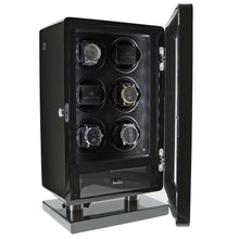 Load image into Gallery viewer, 6 Watch Winder for Automatic Watch Carbon Fibre Finish the Classic Collection by Aevitas - Winder World