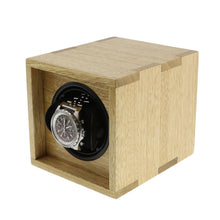 Load image into Gallery viewer, Solid Idigbo Hard Wood Watch Winder for 1 Watch in  Manufactured in the UK by Aevitas - Winder World