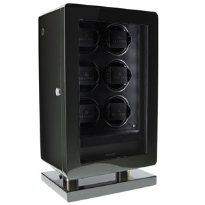 6 Watch Winder for Automatic Watch Carbon Fibre Finish the Classic Collection by Aevitas - Winder World
