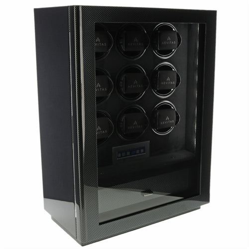 9 Watch Winder for Automatic Watch Carbon Fibre Finish the Classic Collection by Aevitas - Winder World