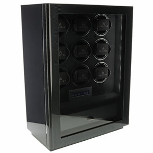 9 Watch Winder for Automatic Watch Carbon Fibre Finish the Classic Collection by Aevitas