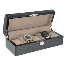 Load image into Gallery viewer, carbon fibre 5 watch box