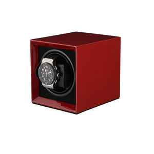 Watch Winder for 1 Automatic Watch in Claret Red Mains or Battery by Aevitas