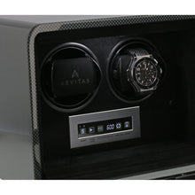 Load image into Gallery viewer, Aevitas Carbon Fibre 2 Watch Winder Touch Screen