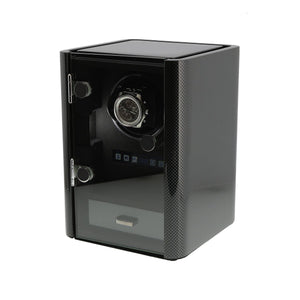 Premium Watch Winder for 1 Automatic Watch Carbon Fibre Finish the Classic Collection by Aevitas - Winder World