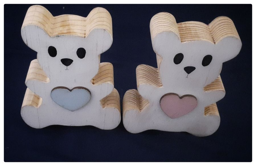 Wooden Teddy Bears