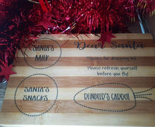Load image into Gallery viewer, Santa Snack Tray/ Chopping Board