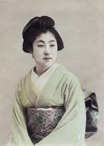 PORTRAIT OF PONTA, Geisha of Shinbashi, c. 1895 by 鹿島 清兵衛 KAJIMA Seibei