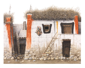 Houses in Lo Manthang, Mustang by Robert Powell