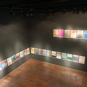 FIFTY-SIX DAYS: An entire set of Date-stamped 56 prints (Installation; unique piece)