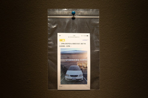 CAR: Print + Plastic bag + Pin (Installation unique piece)