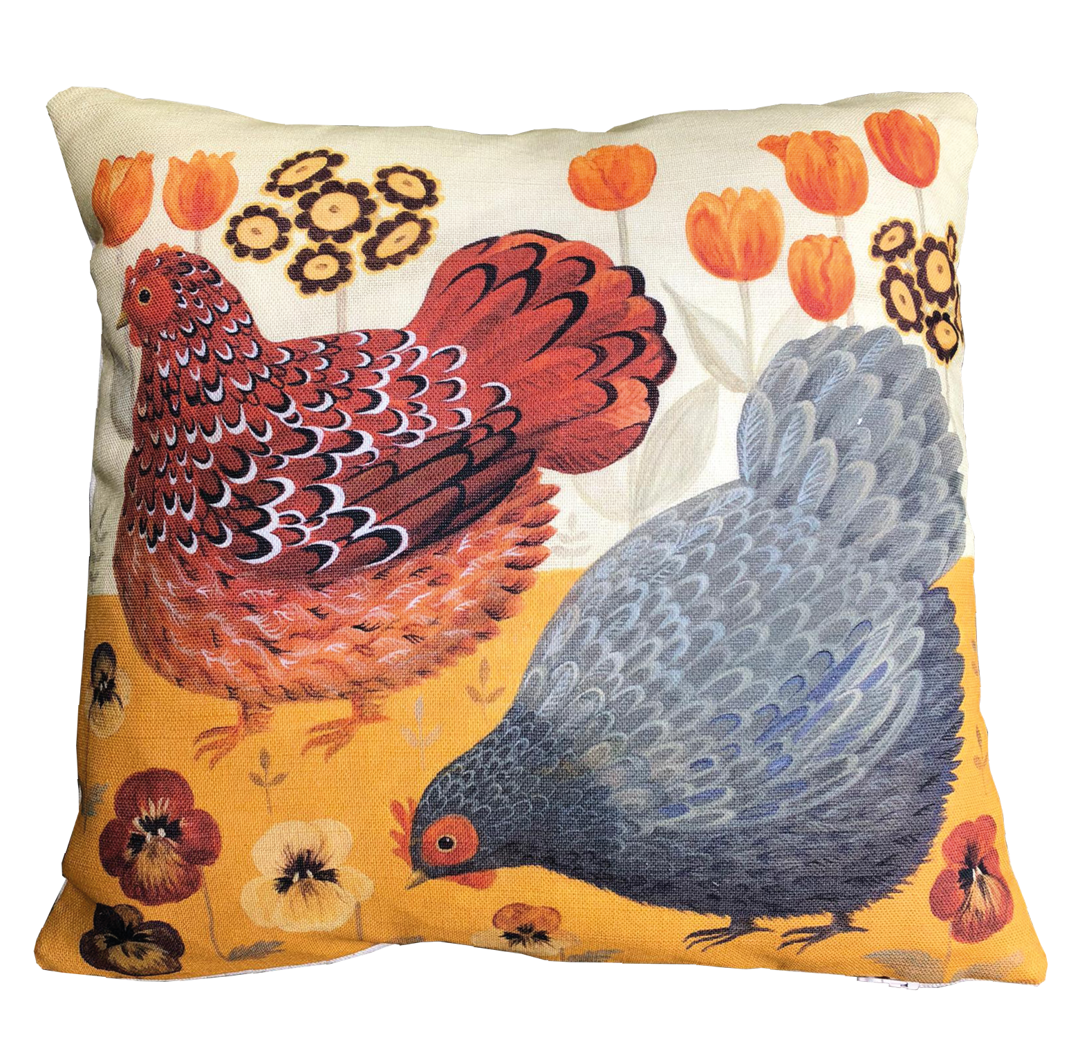 Tiptoe through the Tulips Dog & Dome cushion