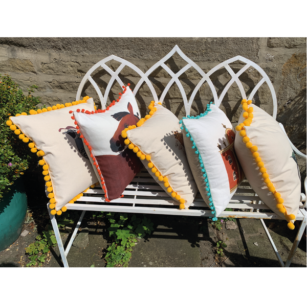 Limited Edition Pom Pom Flora's Folly Cushion