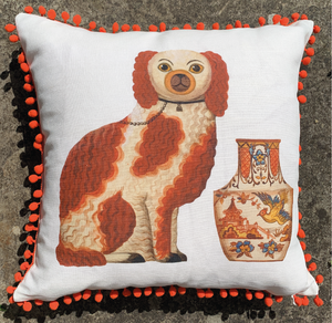 Limited Edition Pom Pom Staffordshire Spaniel Cushion