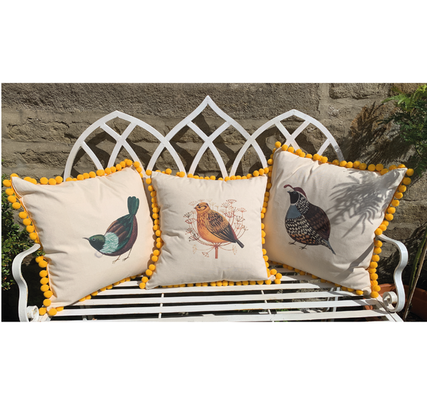 Limited Edition Pom Pom Mellow Yellowhammer Cushion