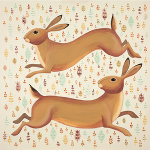 Hurrying Hares Catriona Hall print