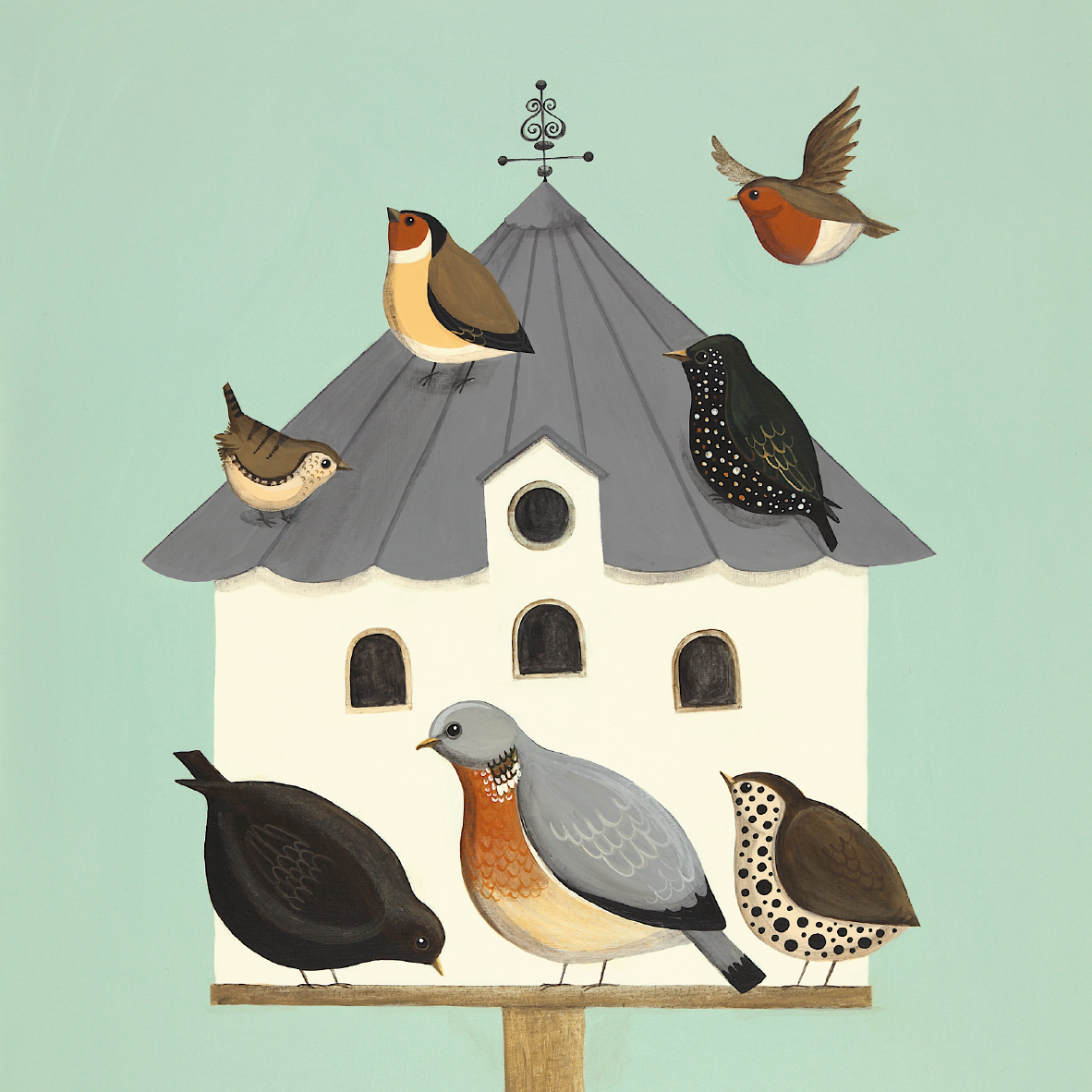 Dawdling on the Dovecot Catriona Hall print