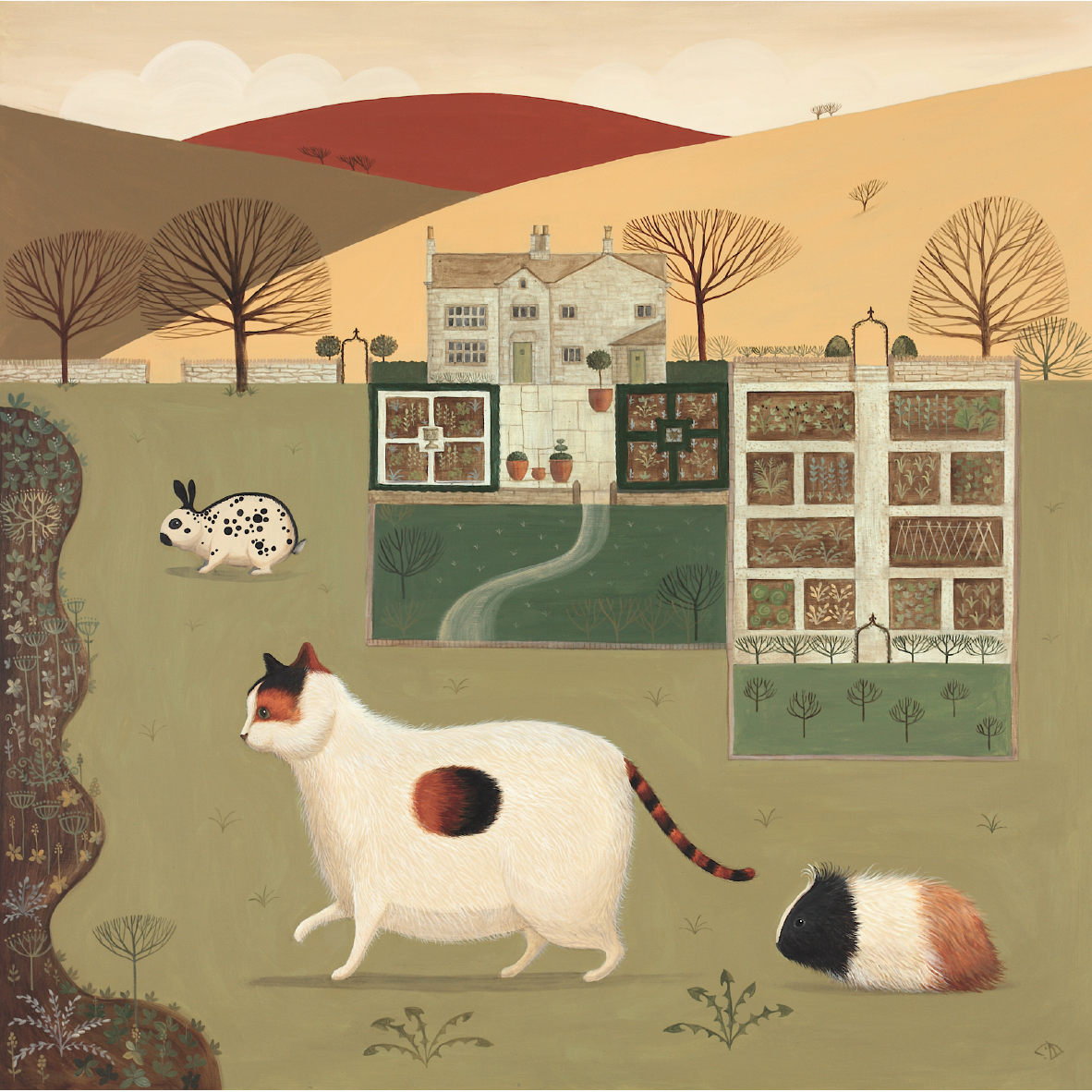 The Old Hall Pets Catriona Hall print