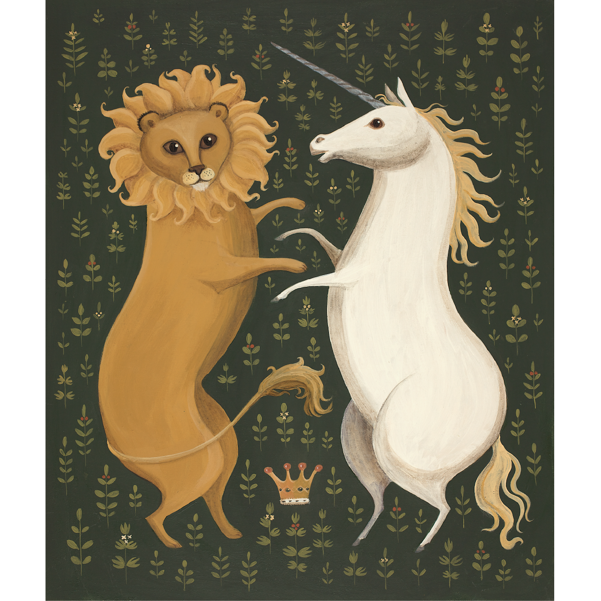 The Lion & the Unicorn Catriona Hall print