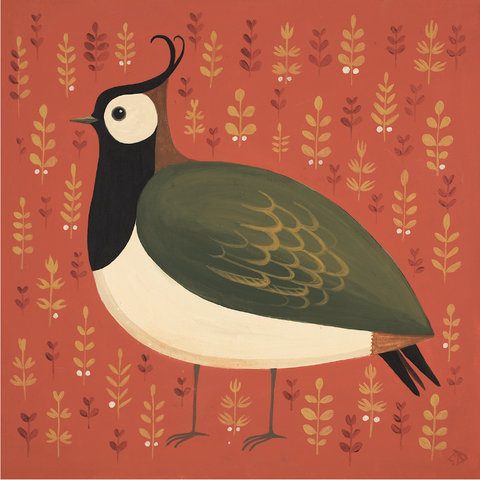 Portly Peewit print by Catriona Hall