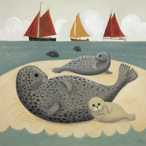Sunning on the Sandbank Catriona Hall print