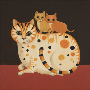 Caroline and Kit Catriona Hall print